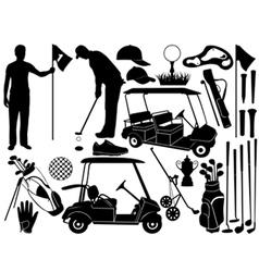 Golf set vector