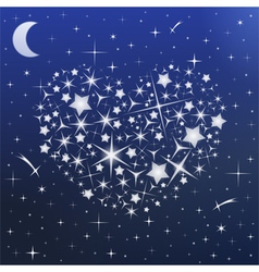 Heart in Sky vector image vector image