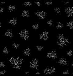 seamless pattern with maple branches vector image