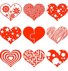 Set of hearts Stock vector image vector image