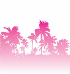 tropical backdrop vector image vector image