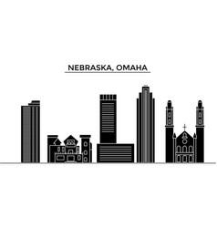 usa nebraska omaha architecture city vector image