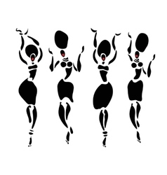 African Beautiful dancers Women vector image