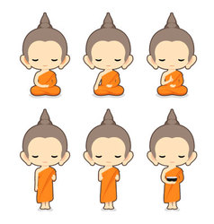 Buddhist Monk Character Design- vector image
