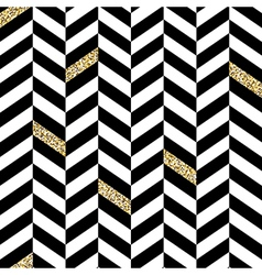 Classic Seamless Chevron Pattern With Glittering vector image vector image