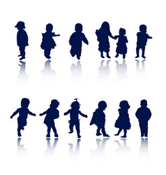 silhouettes - baby vector image