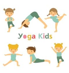Yoga kids vector image vector image