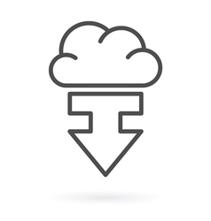 download from cloud service vector image