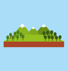 forest outdoor camp vector image