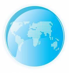 high tech gloss world dots vector image
