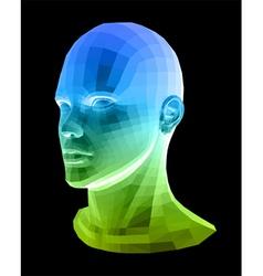 Human head Abstract vector image vector image