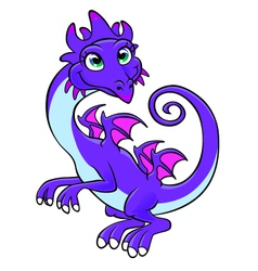 Kindly dragon vector