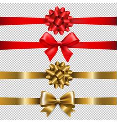 ribbon bow set vector image vector image