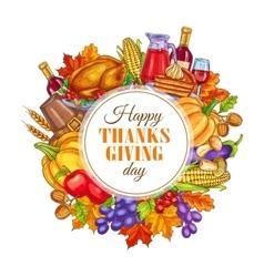 Thanksgiving day decoration design vector