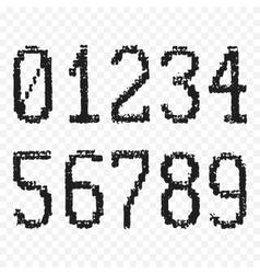 Grunge old numbers vector image vector image
