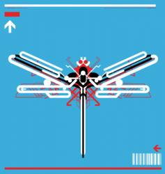 high tech robot dragonfly vector image vector image