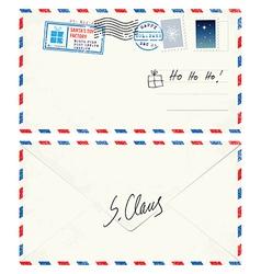 Postcard Letter from Santa vector image