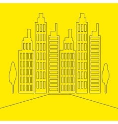 Set Icons Skyscrapers Buildings vector image vector image