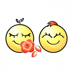 smiley couple vector image