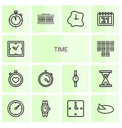14 time icons vector image