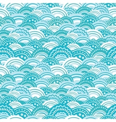 Abstract blue waves seamless pattern background vector image