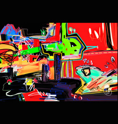abstract digital painting perfect to interior vector image