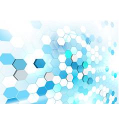 Abstract geometric shape technology digital hi vector