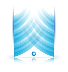 abstract line and square Stripe blue vector image vector image