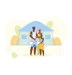 African family in traditional national clothes vector