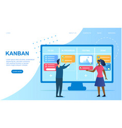 Agile software development and kanban vector