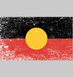 Australian aboriginal grunge flag vector