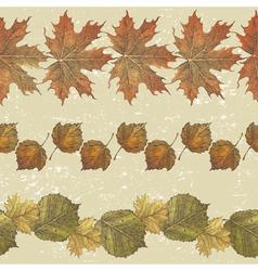 Autumn leaves borders vector