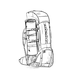 Backpack sketch vector