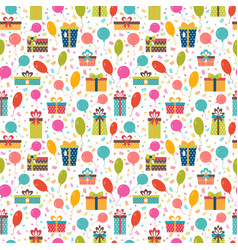 birthday background seamless pattern with vector image vector image