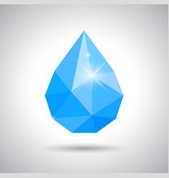 blue water drop tear raindrop vector image