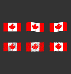 canada flag official colors vector image