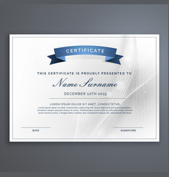 Clean and modern diploma certificate template vector