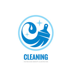 Cleaning service - business logo template vector