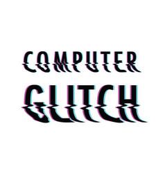 Computer glitch vector