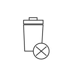 delete trash icon vector image