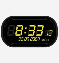 Digital clock radio vector