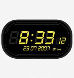 digital clock radio vector image