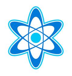 Dynamic atom molecule science symbol icon vector