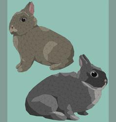 Easter bunny rabbit standing vector