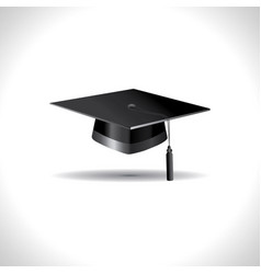 education cap on white background vector image