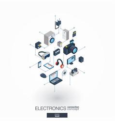 Electronics integrated 3d web icons digital vector