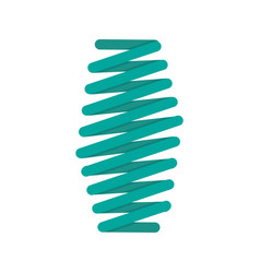 Fat spring coil icon flat style vector