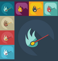 Flat modern design with shadow icons match vector