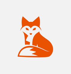 fox logo design vector image