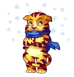 frozen cat vector image
